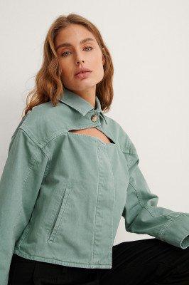 NA-KD Trend NA-KD Trend Organisch Spijkerjack - Green