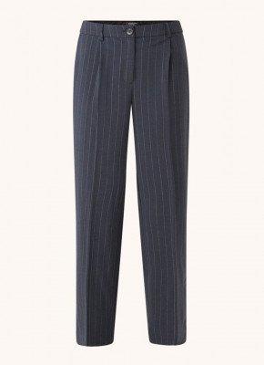 Selected Femme Selected Femme Sigrid high waist wide fit pantalon met streepdessin