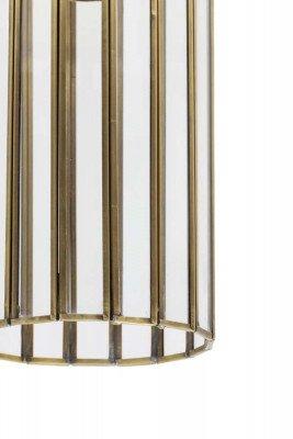 Light en Living Light & Living Hanglamp 'Strøby' antiek brons+glas