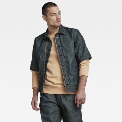 G-Star RAW GSRR Cropped Lined Shirt - Donkerblauw - Heren
