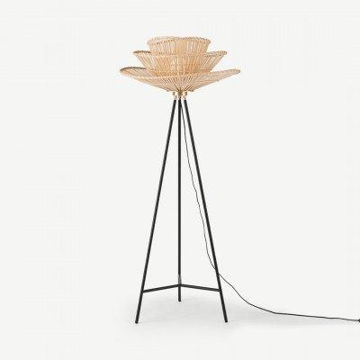 MADE.COM Weaver staande lamp, natuurlijk bamboe