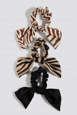 NA-KD Accessories NA-KD Accessories Zebra Pattern Scrunchie Set - Multicolor