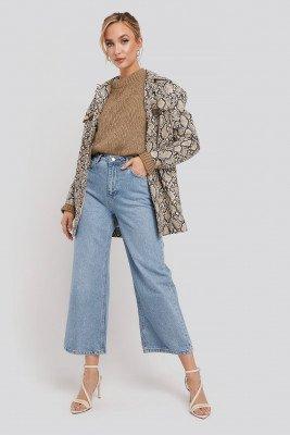 Trendyol Trendyol High Waist Culotte Jeans - Blue