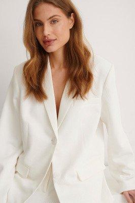 NA-KD Classic NA-KD Classic Oversized Twill Blazer - White