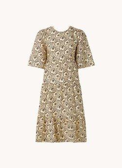 BAenSH ba&sh Gabie gelaagde midi jurk met rugdecolleté en bloemenprint