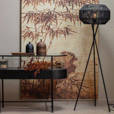 WOOOD Exclusive WOOOD Exclusive Vloerlamp 'Griffin', kleur Zwart