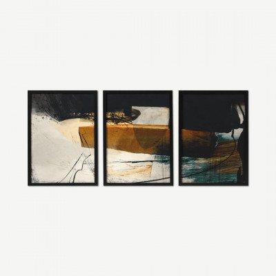 MADE.COM Dan Hobday, 'Warm', set van 3 ingelijste prints, A2