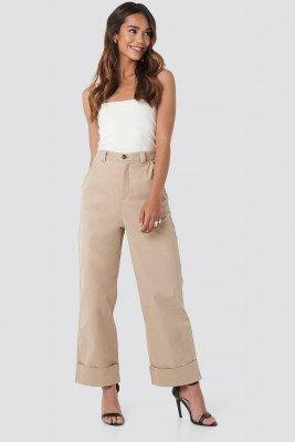 Beyyoglu Beyyoglu Straight Cut Pants - Beige