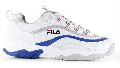FILA FILA Ray Low Wit/Blauw Herensneakers