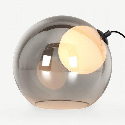 MADE.COM Masako LED tafellamp, rook- en opaalglas