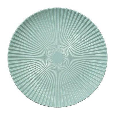 Xenos Decoratieplateau ribbel - blauw - ⌀40 cm