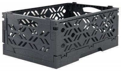 HEMA HEMA Klapkratje Recycled 16x24x10 - Donkergrijs
