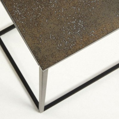 Kave Home Kave Home Sidetable 'Rewena' zwart met keramisch blad