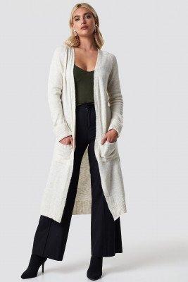 Trendyol Trendyol Stone Classic Cardigan - White,Beige