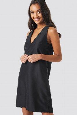 NA-KD Party NA-KD Party Straight V-Neck Mini Dress - Black