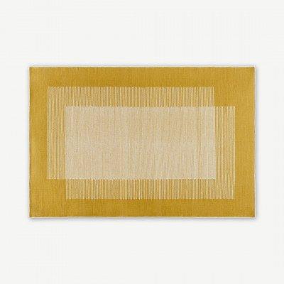 MADE.COM Caixa wollen vloerkleed, groot, 160 x 230 cm, mosterdgeel