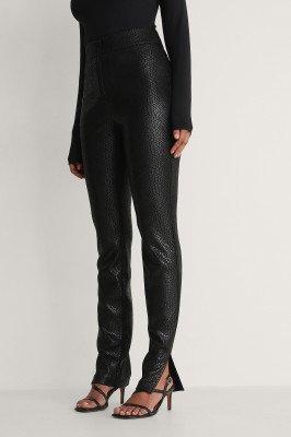 NA-KD Trend NA-KD Trend Front Zip Pants - Black