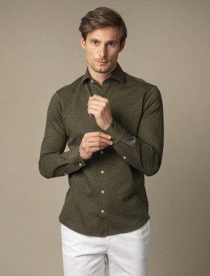 Cavallaro Napoli Cavallaro Napoli Heren Overhemd - Feder Overhemd - Groen