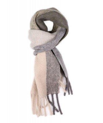 Profuomo Profuomo heren grijze alpaca wol sjaal
