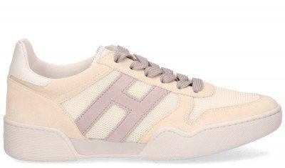 Hogan Hogan H357 Beige/Lila Damessneakers