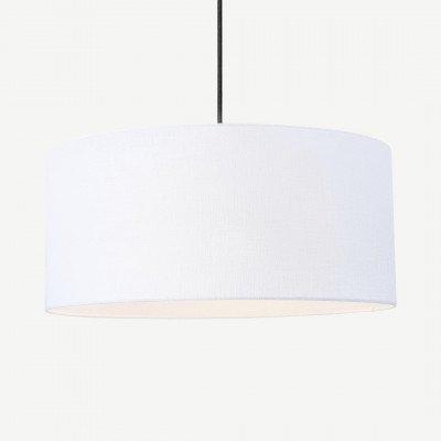 MADE.COM Porto lampenkap van linnen, 45 x 20cm, wit