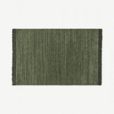 MADE.COM Celsi wollen vloerkleed, groot, 160 x 230 cm, donkergroen