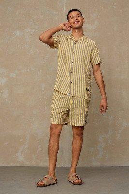 Kings of indigo Kings of Indigo - BIDATSU shorts Male - Yellow
