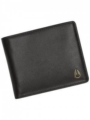 Nixon Nixon Pass Leather Coin Wallet bruin