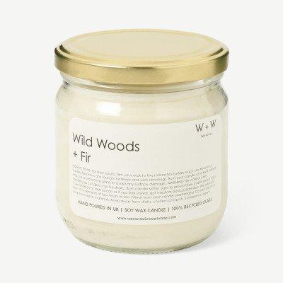 MADE.COM Wild Woods & Fir Wax + Wick wild bos en vijgen kaars