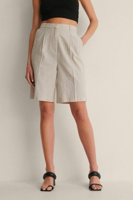 Curated Styles Curated Styles Te Groot Linnen Short - Beige
