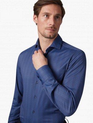 Cavallaro Napoli Cavallaro Napoli Heren Colbert - Spadino Overhemd - Blauw