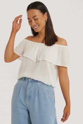 Sparkz Sparkz Off-Shoulder Top - Offwhite