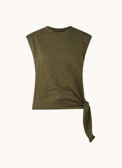 Whistles Whistles Mouwloze top met knoopdetail