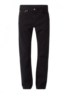 Levi's 501 high rise straight fit jeans met knoopsluiting