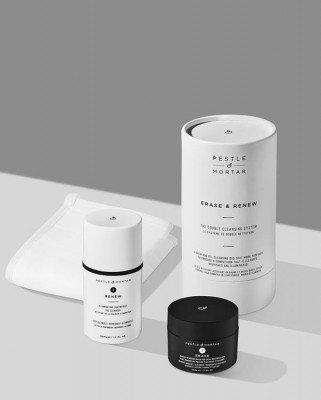 Pestle en Mortar Pestle & Mortar - Erase & Renew The Double Cleansing System - 50 ml + 50 ml + 1 face cloth