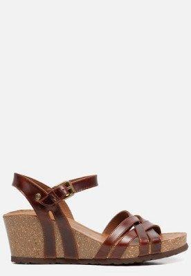 Panama Jack Panama Jack Vera Clay B1 sandalen met sleehak cognac