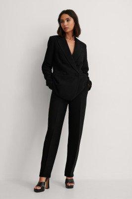 NA-KD Classic NA-KD Classic Gestructureerde Pantalon - Black