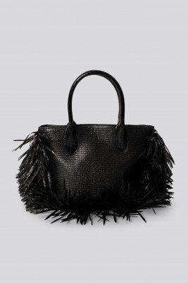 NA-KD Accessories NA-KD Accessories Fringe Beach Bag - Black