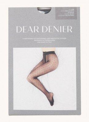 DEAR DENIER DEAR DENIER Pernille panty met stippenprint in 20 denier black