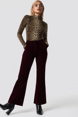NA-KD Party NA-KD Party Velvet Trousers - Red