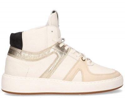 Nubikk Nubikk Jiro Dunk Wit/Goud Damessneakers