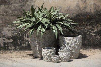 PTMD PTMD Pot 'Armin', Cement, 40cm, kleur Groen