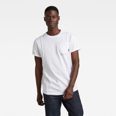G-Star RAW Lash Pocket Back Graphic T-Shirt - Wit - Heren