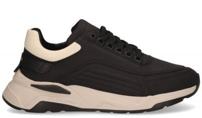 Nubikk Nubikk Dusk Maltan Zwart/Beige Herensneakers