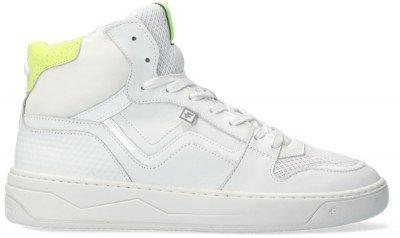 Floris van Bommel Witte Floris Van Bommel Hoge Sneaker 85329