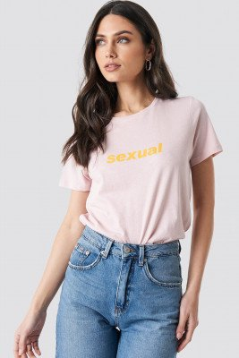 NA-KD Trend NA-KD Trend Sexual Tee - Pink