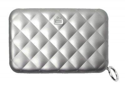 Ogon Designs Ogon Dames Creditcardhouder Quilted Zipper Silver