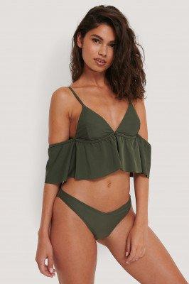 NA-KD Swimwear NA-KD Swimwear V-Vormig Bikinibroekje - Green