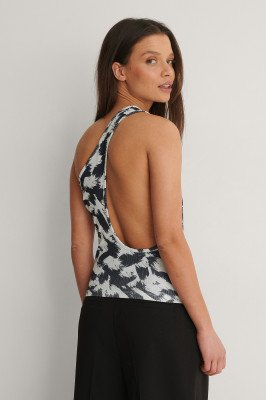 NA-KD Party NA-KD Party Gerecycleerd Tanktop Met Lage Hals Achter - Multicolor