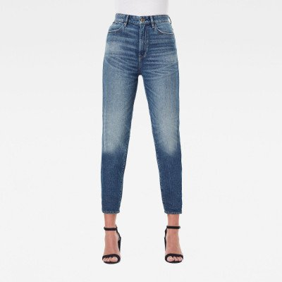 G-Star RAW Janeh Ultra High Mom Ankle Jeans - Midden blauw - Dames